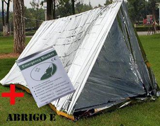 Conjunto Abrigo e Cobertor de emergência