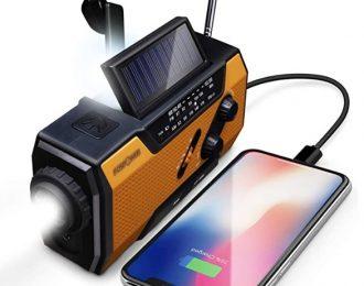 Rádio emergência energia solar